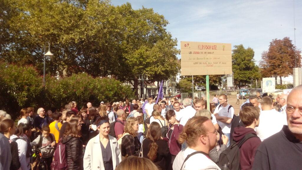 Foto vom Klimastreik in Bensheim am 20.9.2019