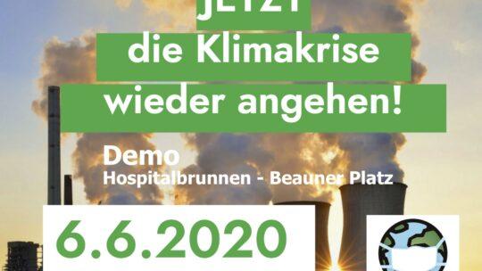 Demo: JETZT die Klimakrise  wieder angehen!